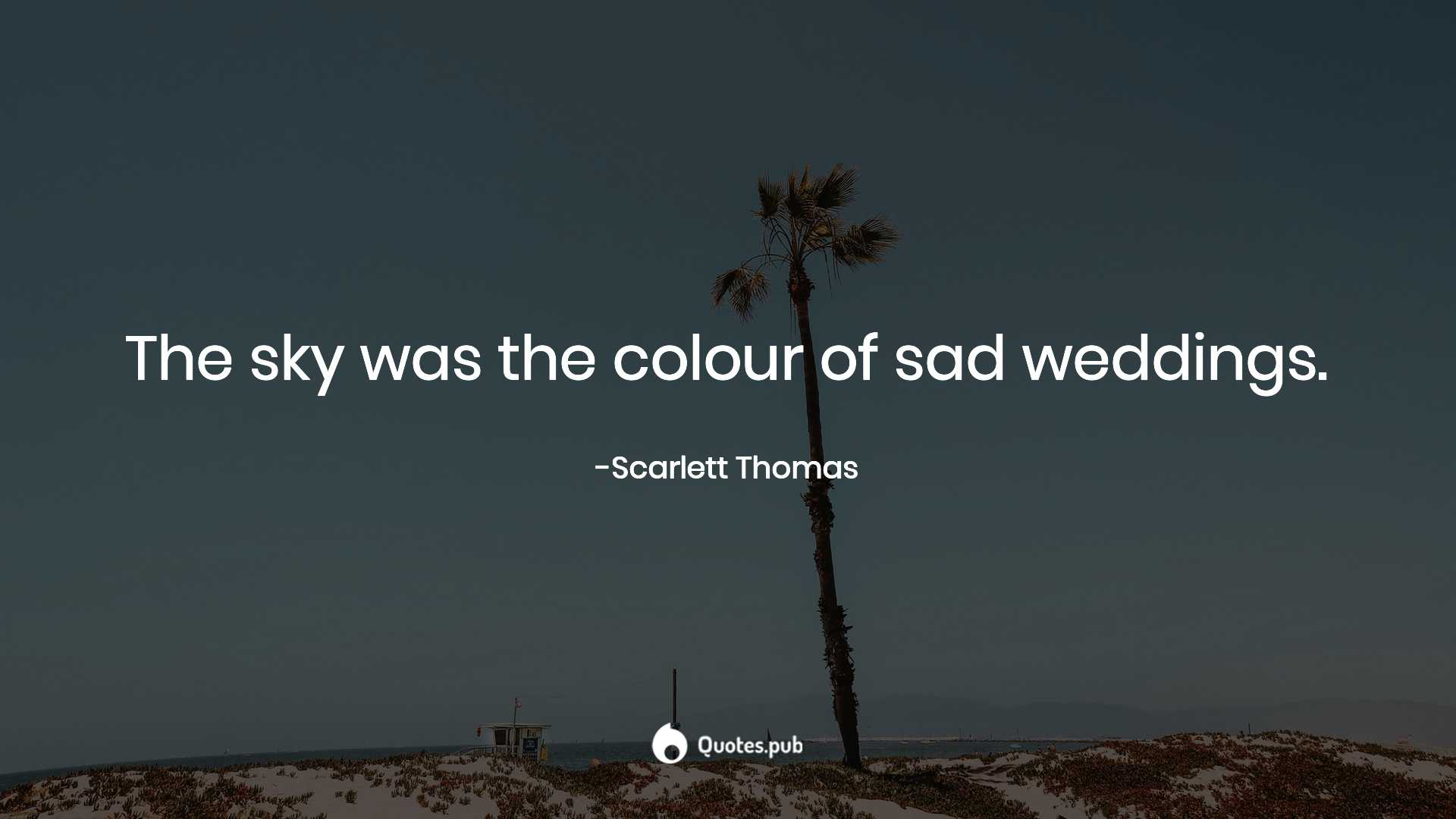the sky was the colour of sad weddin scarlett thomas quotes pub