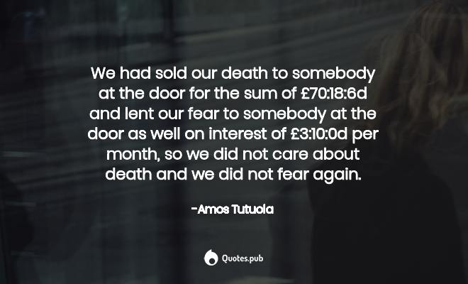 Amos Tutuola Quotes Collection Quotes Pub